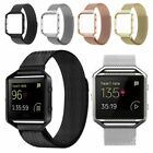 Replacement Stainless Steel Loop Strap Wrist Band+Frame for Fitbit Blaze Watch