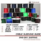 "LOT ALL NEW SIZES&COLOR Expandable Braided Wire Cable Sleeving Tubing 120""- 360"""