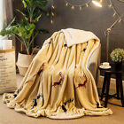 Soft Double Layer Thickening Blanket Sofa Blanket, Lamb Cashmere Office Nap