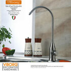 TinyFin 304 Stainless Steel Lead-free Drinking Water Filter Tap Faucet Brushed