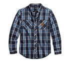 New Harley-Davidson  Plaid Button Front Slim Fit Shirt