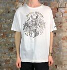 Blend Slim Fit Casual/Summer Short Sleeve T-Shirt White size L