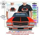 HQ HOLDEN MONARO 71-74 GTS TWIN LIGHTS FRONT CLASSIC ILLUSTRATED T-SHIRT MUSCLE