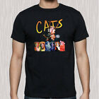 CATS Musical Broadway Show Poster Logo Men's Black T-Shirt Size S to 3XL image