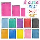 Assorted Sizes 8.5x12, 6x9,  4x8 Colored Poly Bubble Mailers, Padded Envelopes