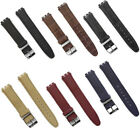 17mm Genuine Leather Standard Swatch Replacement Watch Band Strap Ships form USA image