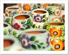 Colorfully Painted Ceramic Pots Art Print Home Decor Wall Art Poster - D