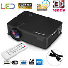 7000 Lumens HD 1080P 3D LED Video Projector for Iphone Android Or 100'' Screen