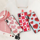 Cartoon Sweet fresh Pink Love Glasses Glossy case cover for iphone X 8 7 6S plus
