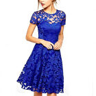Women Formal Dress Evening Party Cocktail Bridesmaid Wedding Lace Prom Dresses