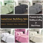 LUXURY Hamlet DUVET COVER SET Pleated Pintuck Quilt Cover  TOP QUALITY Bed Set