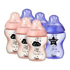 6 x Tommee Tippee Decorated Baby Bottles Closer to Nature 260ml - Catch me Quick