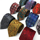 High Quality Mens Tie Silk Floral Plaid Jacquard Woven Neck Ties Men's Necktie
