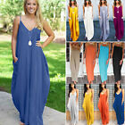 Plus Size Womens Boho Long Maxi Dress Beach Holiday Party Casual Summer Sundress