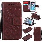 3D Embossing Sun Flower Wallet Flip pu Leather Case Stand Cover Shockproof Skin