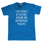 I Run On Caffeine Mens Funny T Shirt - Slogan Offensive Hipster Sarcastic Coffee