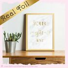 REAL FOIL your Personalised Gold Quote MARBLE Background inspirational Print art