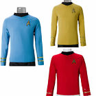 Cosplay Star Trek TOS Captain Kirk Shirt Classic Uniform Costume Yellow Red Blue on eBay