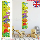 Height Chart Wall Sticker Dinosaur Kids Childrens Wall Art Measure Ruler Growth