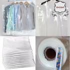 Clear Polythene Garment Covers Clothes Suit Dress Plastic Bags Poly roll <br/> FREE P&amp;P + Available in 38&quot;, 40&quot;, 42&quot;, 54&quot;, 60&quot;and 72&quot;