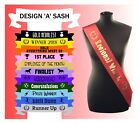 Made to order personalised Sashes Employee of the Month Year Award Work Party