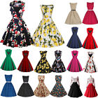 womens rockabilly dresses - Women 50s Vintage Style Pinup Swing Evening Party Rockabilly Casual Work Dress