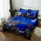 High-rise Block 3D Printing Duvet Quilt Doona Covers Pillow Case Bedding Sets image