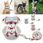 Chihuahua Dog Vest Harness Mesh Bowtie Gentleman Clothes Harness for Dog Cat