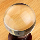 1X Clear Glass Crystal Ball Healing Sphere Photography Props Gifts US Stock