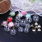 Внешний вид - 50pcs Mini Wish Bottles Empty Glass Ball Pendant Charm Vial Bubble Cap 16mm-18mm