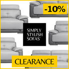 ASTRA Two-Tone Light Grey / Dark Grey Leather Sofa 3 + 2 Seaters + Armchairs