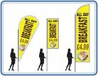 ALL day Breakfast flag  great for cafes - Breakfast Flags Banners for cafes uk