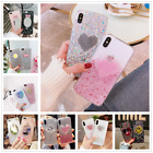 Dynamic Love Glitter Silica Gel Clear Soft Case Cover For iphone X 6s 7 8 Plus $3.59 USD on eBay