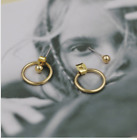 Hoop & Stud Unique Earrings -Golden or Silver- Open Hollow Ear Jacket