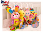 Baby Toys Colorful Infant Stroller Squeaker Plush Bell Car Kids Hanging Teether