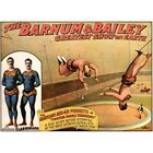 Barnum & Bailey Circus Ad The Astounding Clarkonians Vintage Repro Poster $16.99 USD on eBay