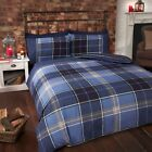 Rapport Argyle Stripe Duvet Cover Set in Blue, All sizes Available Free P&P