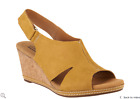 Внешний вид - Clarks Nubuck Wedge Sandals with Backstrap - Helio Float (Yellow)