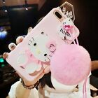For iPhone 7 plus /X 8 6 6splus case pink Hello kitty For samsung galaxy s8 plus