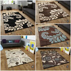 NEW MODERN 120x170cm QUALITY THICK LEAF & ROSE DESIGN RUG ONLINE FOR SALE HURRY!