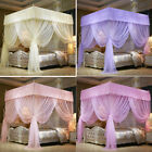 Princess 4 Corner Post Bed Curtain Canopy Mosquito Netting Twin Queen King Size image