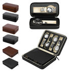 Portable Travel Watch Storage Case Box 2/4/8 Grids Leather Wristwatch Organizer image