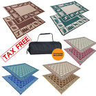 Kyпить Indoor Outdoor Patio Mat RV Large Reversible Camping Picnic Carpet Deck Rug Pad на еВаy.соm