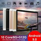 """10.1"""" Wifi Tablet Bluetooth Android 9.0 Hd 8+512gb 10 Core Game Gps Dual Camera"""