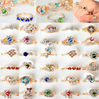 wholesale wedding rings - 10/30/50/100pcs Wholesale Jewelry Lots Crystal Gold Plated Rings Wedding Ring US