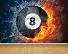 8 Ball Pool Billiards Wallpaper Bespoke Backdrop Printed Wall Mural Decal Print £187.0 GBP on eBay