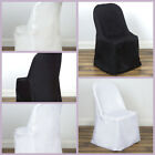 Polyester Folding Flat Banquet CHAIR COVERS Wedding Party Supplies Wholesale