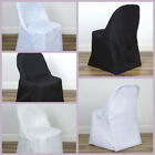10 FOLDING Round Polyester Fabric CHAIR COVERS Wedding Party Wholesale Supplies