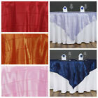 """10 pc 60x60"""" Pintuck TABLE OVERLAY Wedding Linen Supply Wholesale Decorations"""