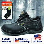 Safetoe Safety Leather Shoes Work Mens Steel Toe Water Resistant L 7222 US Stock